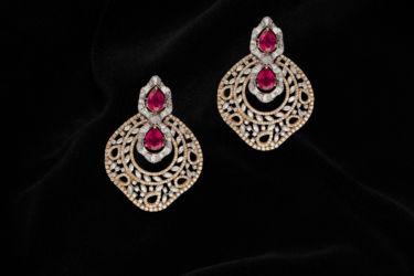 Ruby Earrings A